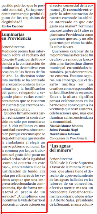La Tercera, p.42 - 28/11/2013